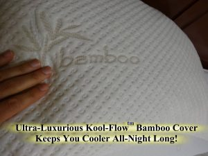 Best Memory Foam pillow for back sleepers - Snuggle-Pedic Bamboo Shredded Memory Foam Pillow with Kool-Flow Micro-Vented Cover
