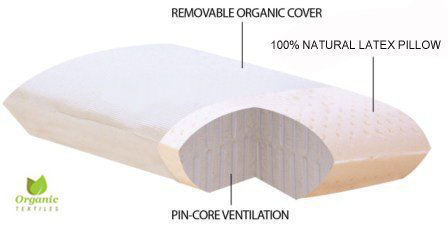 OrganicTextiles All Natural Premium Latex Foam Pillow