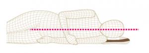 proper side sleeping height