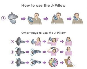 You will have many ways to use a J-pillow
