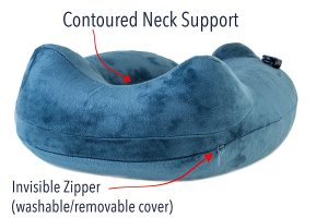 Contoured neck support design give neck very solid support