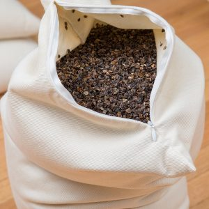 Filled with USA-grown buckwheat hulls